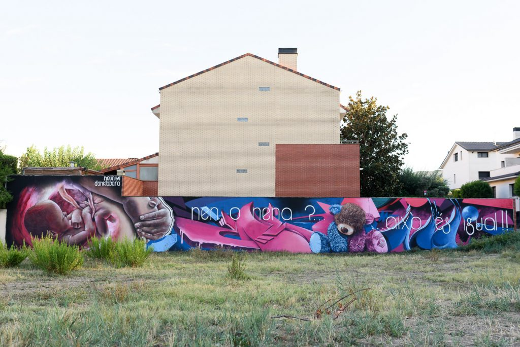 Mural de Nauni 69 & Dank al TSAF 2021